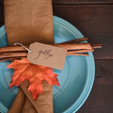 Autumnal place setting