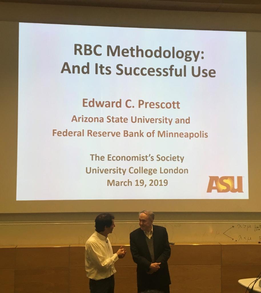 Edward Prescott presenting