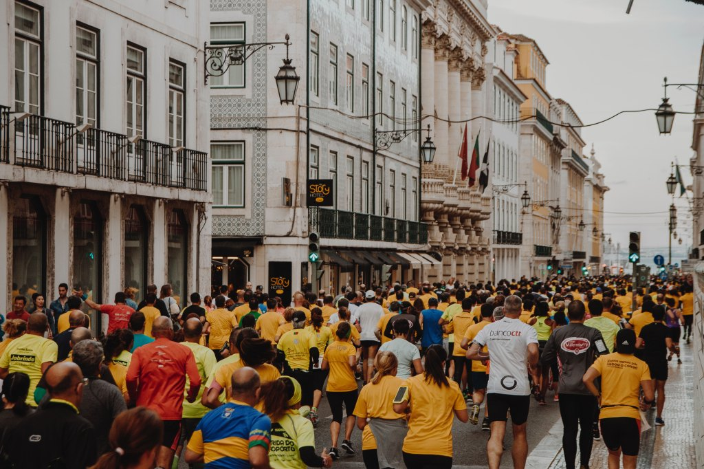 Marathon race through the streets