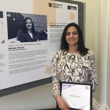 Michela Tincani with award