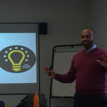 Abdullah presenting seminar